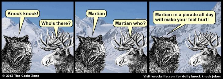 Knockville daily knock knock jokes - Martian